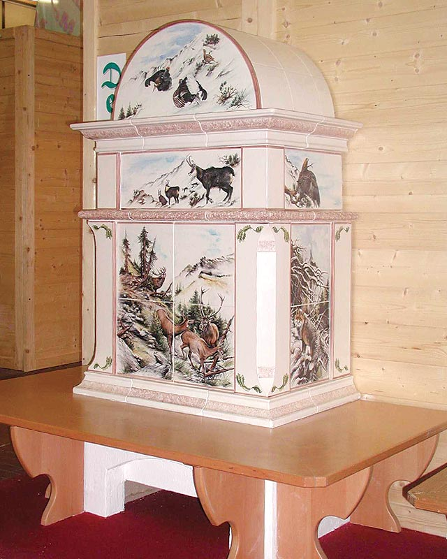 Stufe stufa a legna stufe maiolica ceramica riscaldamento vendita stube tirolesi - gallery su misura 12