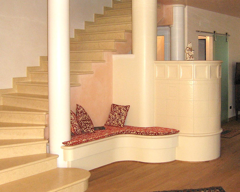 Stufe stufa a legna stufe maiolica ceramica riscaldamento vendita stube tirolesi - gallery su misura 14