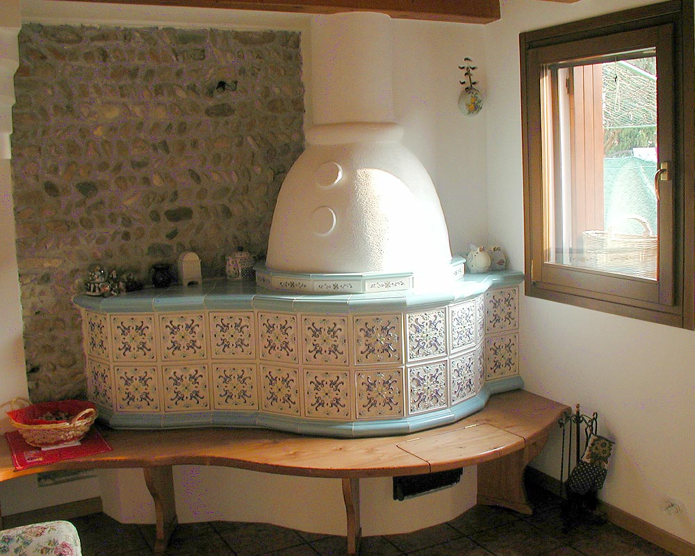 Stufe stufa a legna stufe maiolica ceramica riscaldamento vendita stube tirolesi - gallery su misura 16